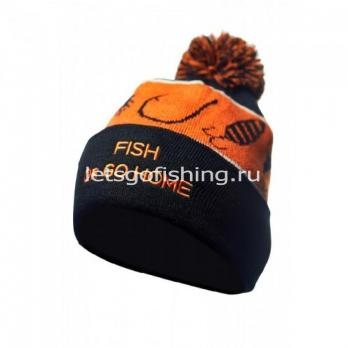 VEDUTA Шапка зимняя Pompom Hat Fish Or Go Home
