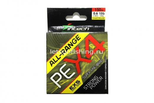 Шнур плетеный Intech All-Range PE X-4 120m (0.6/0.12mm (10lb / 4.54kg))