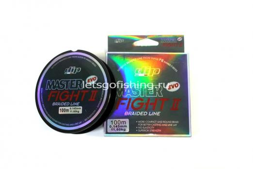 Плетеный шнур ALCEDO DIP MASTER FIGHT II Braid Dark Grey 100 м 0,145 мм