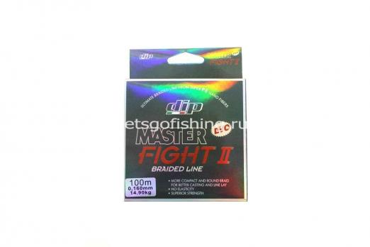 Плетеный шнур ALCEDO DIP MASTER FIGHT II Braid Dark Grey 100 м 0,160 мм